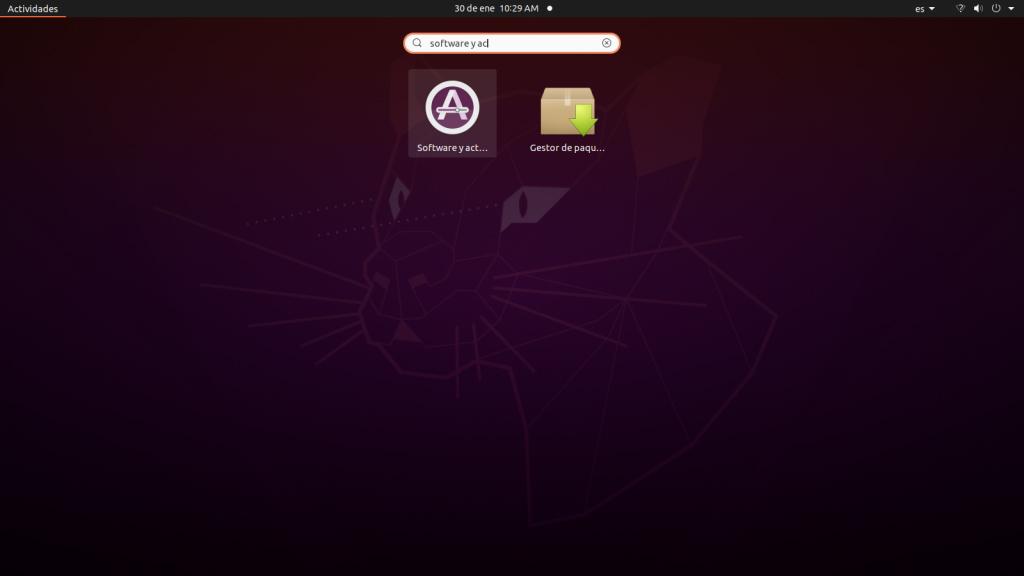 Opciones de inicio de Ubuntu