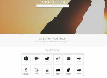 Pagina oficial de Canon