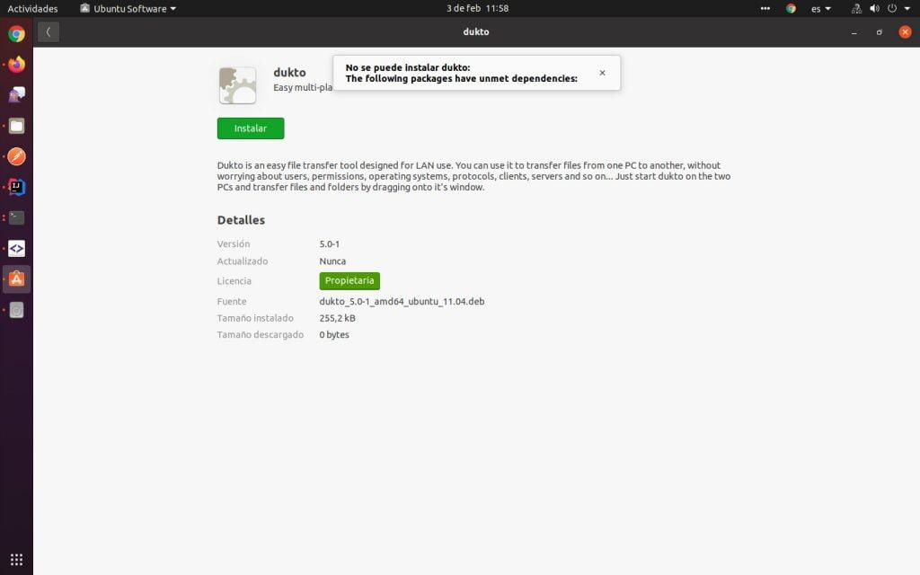 Instalar paquete .deb manualmente en el Centro de Software de Ubuntu