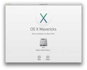 Instalación Mavericks