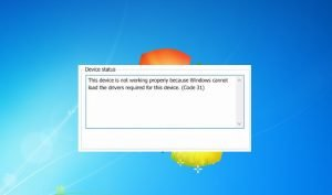 Corregir errores del código 31 windows