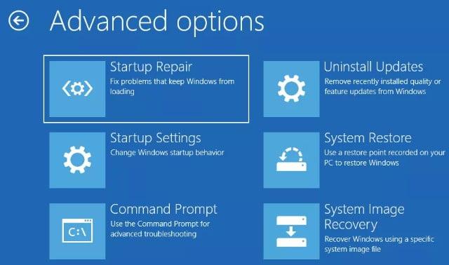 error del Dispositivo de Arranque Inaccesible en Windows 10