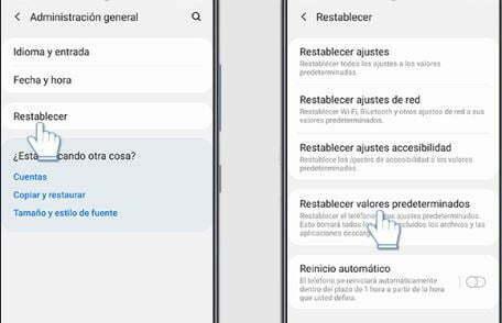 Restablecer a los Datos de Fábrica tu Dispositivo Samsung