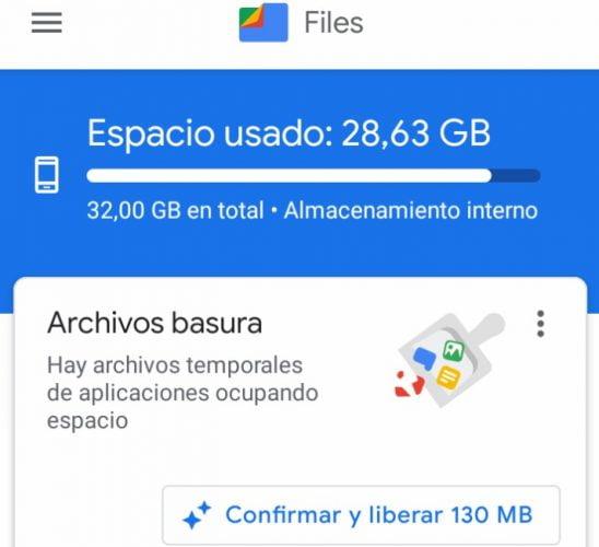 liberar espacio de almacenamiento en android