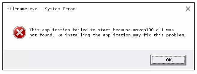 Errores Msvcp100.dll errores