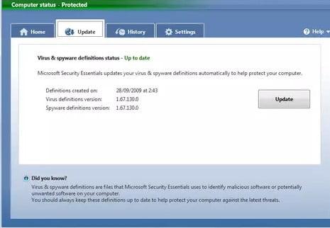 Software antivirus gratuito Microsoft Security EssentialsSoftware antivirus gratuito Microsoft Security Essentials