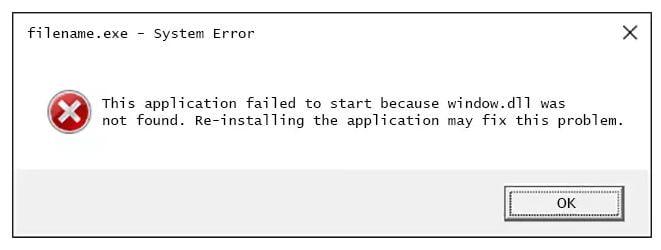 errores de Window.dll